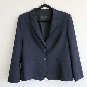 Ann Taylor Navy Lined Blazer Size 12